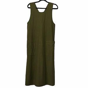 Eileen Fisher olive green dress